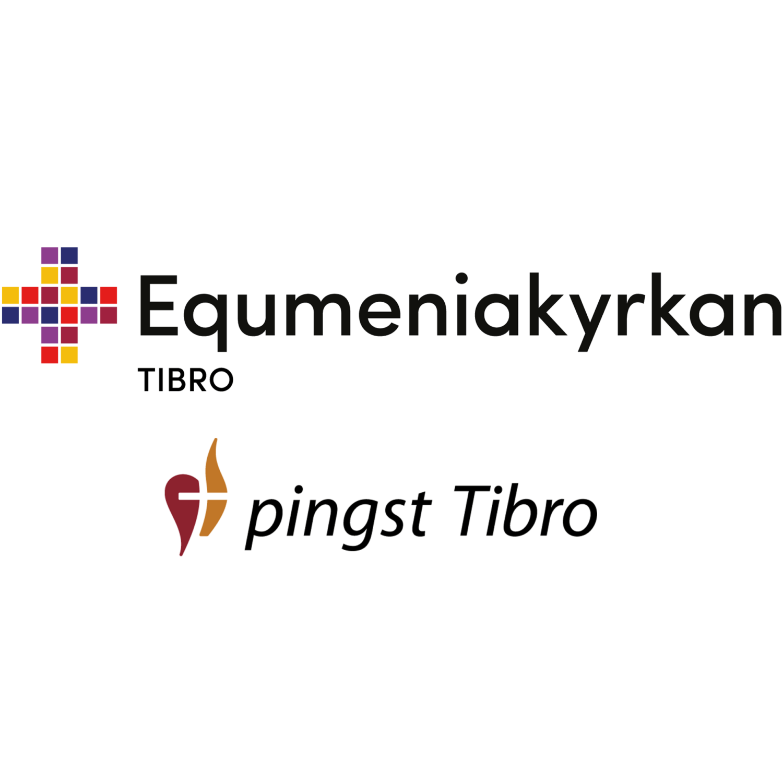 Logotyper för Equmeniakyrkan och Pingstkyrkan i Tibro