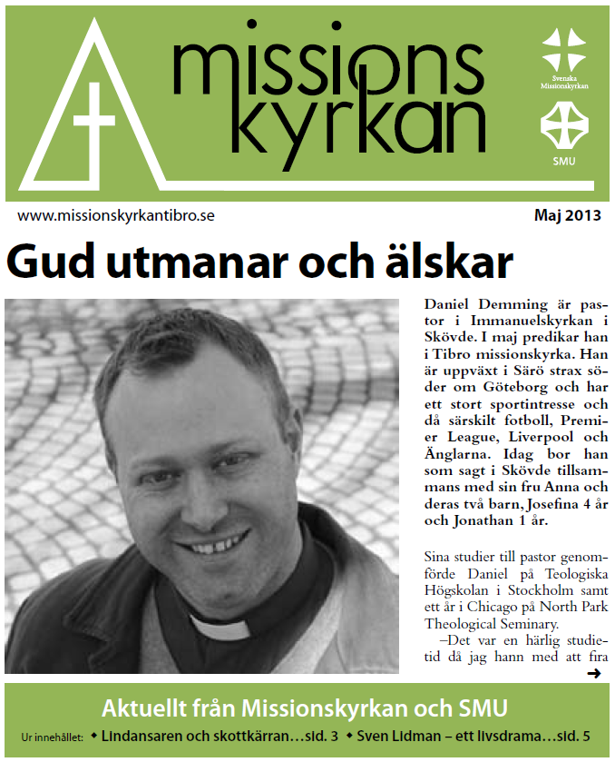 Tidningen Missionskyrkan - maj 2013   Tibro