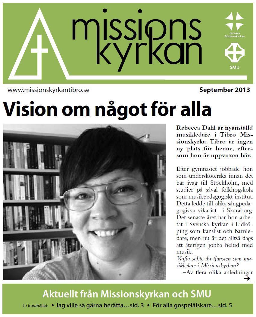 Tidningen Missionskyrkan - september 2013