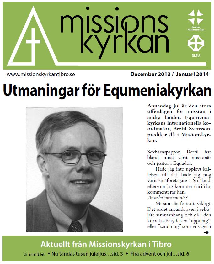 Tidningen Missionskyrkan - december 2013