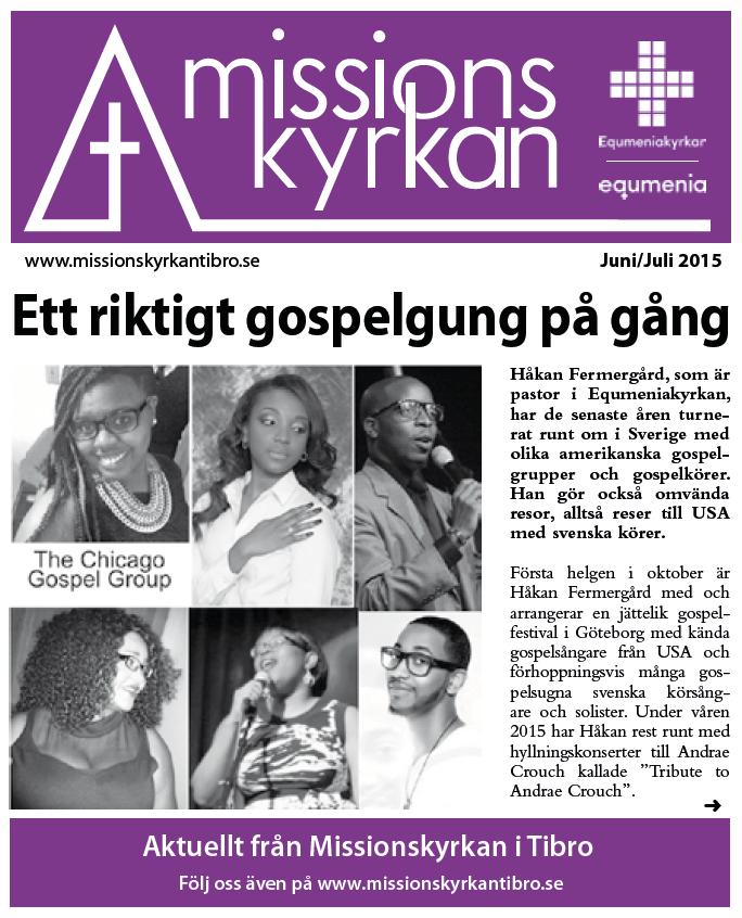 Tidningen Missionskyrkan nr 5 2015