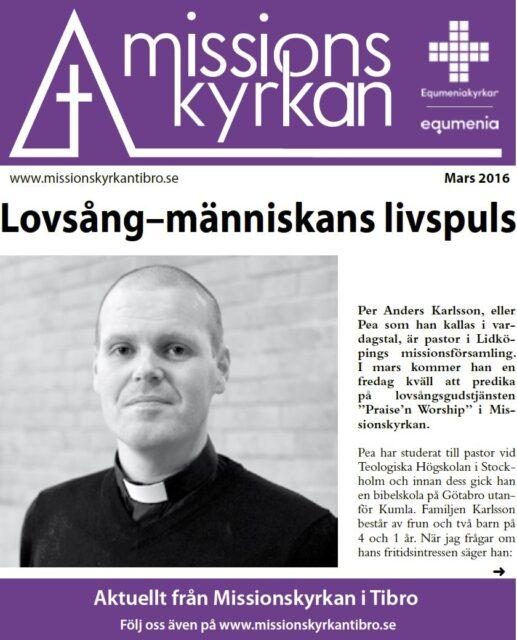 Tidningen Missionskyrkan | NR 2 2016