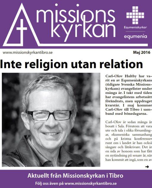 Tidningen Missionskyrkan | NR 4 2016