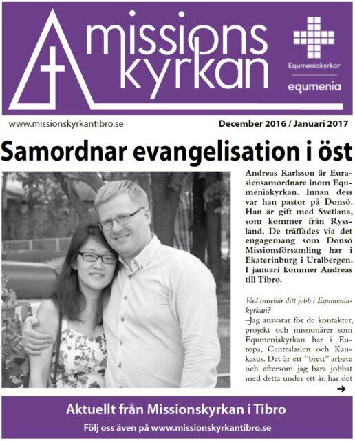Tidningen Missionskyrkan | NR 10 2016