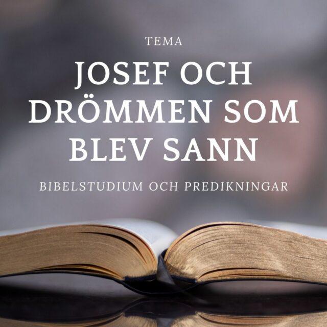 Tema: Josef och drömmen som blev sann.