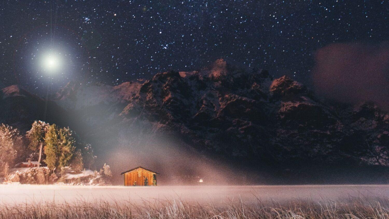 natt stjärnor julnatt
