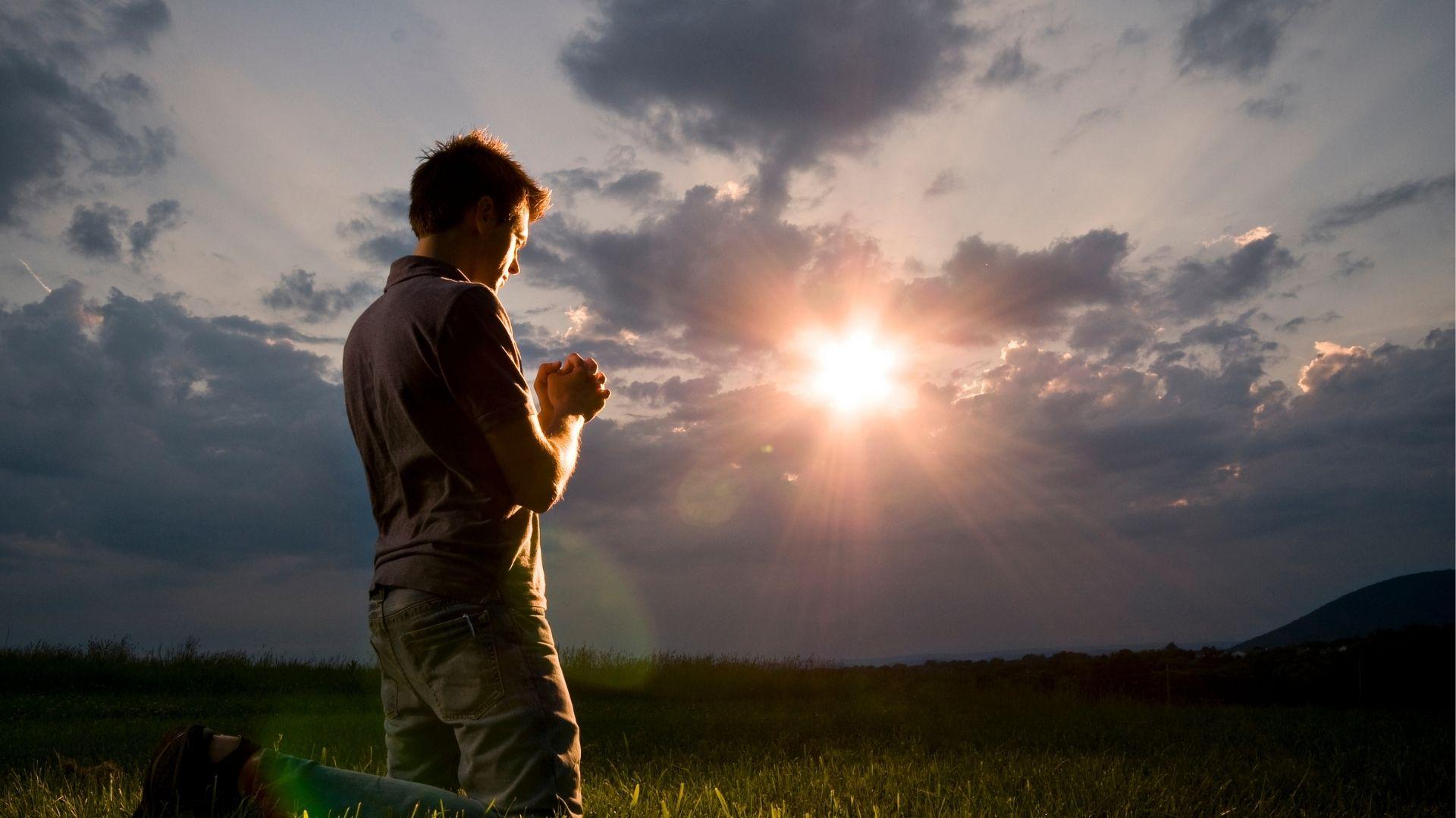 bön sol äng sommar