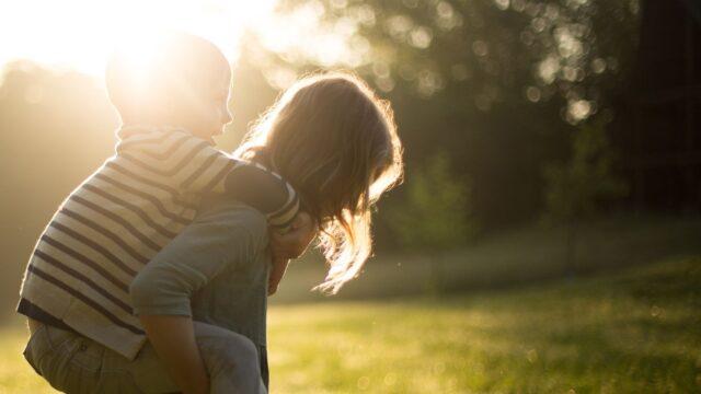 vår sommar barn sol