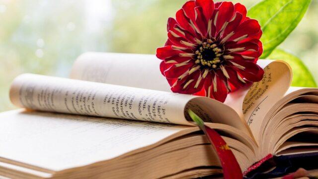 bibel blomma hjärta