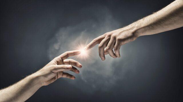 skapelsen adam Gud händer