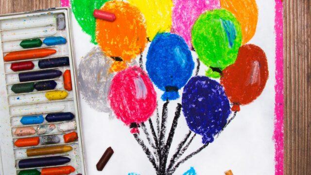 kritor ballonger teckning barn