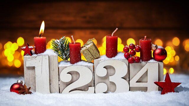 advent jul december ljus
